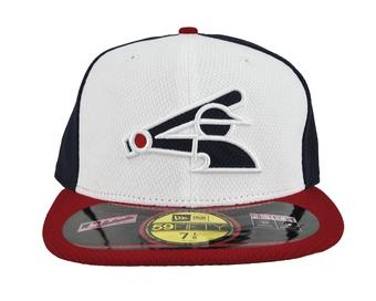 Chicago White Sox New Era Retro Logo Navy & White Diamond Era 59Fifty Fitted Hat (7 1/2)