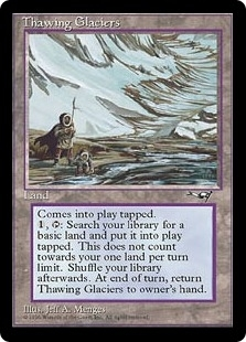 Magic the Gathering Alliances Single Thawing Glaciers - NEAR MINT (NM)