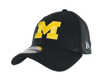 Michigan Wolverines New Era 39Thirty Team Classic Navy Flex Fit Hat (Adult M/L)