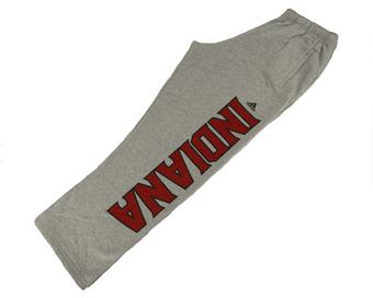 Indiana Hoosiers Adidas Gray Athletic Fleece Sweatpants (Adult M)