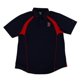Boston Red Sox Reebok Dark Navy Trainer Performance Polo Shirt