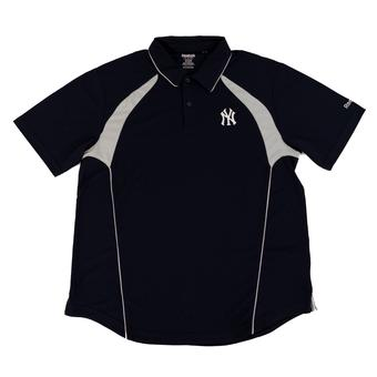 New York Yankees Reebok Dark Navy Trainer Performance Polo Shirt (Adult L)