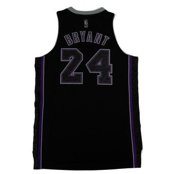 Kobe Bryant Los Angeles Lakers Black Adidas Carbon Jersey
