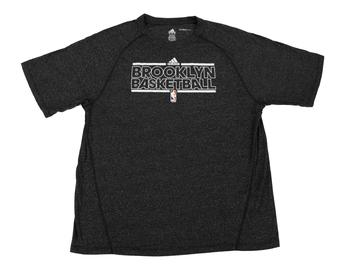 Brooklyn Nets Adidas Grey Climalite Performance Tee Shirt (Adult XXL)