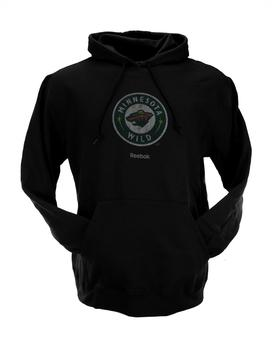Minnesota Wild Reebok Black Fleece Hoodie (Adult XXL)