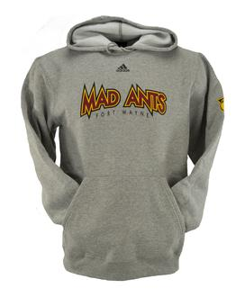 Fort Wayne Mad Ants Adidas Grey Dual Blend Fleece Hoodie (Adult L)