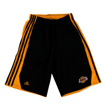 Los Angeles Lakers Adidas Black Colony Hoops Basketball Shorts (Adult L)
