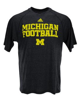 Michigan Wolverines Adidas Navy Speedwick Climalite Performance Tee Shirt (Adult S)