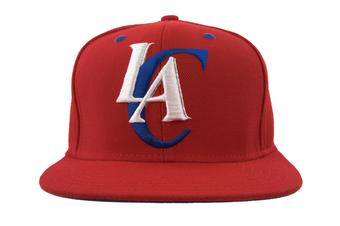Los Angeles Clippers Adidas Red Retro Flat Brim Snapback Hat (Adult OSFA)