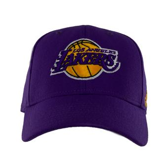 Los Angeles Lakers Adidas Team Second Color Structured Flex Fitted Hat (Adult One Size)