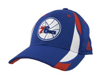 Philadelphia 76ers Adidas Blue Structured Flex Fit Hat