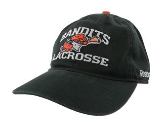Buffalo Bandits Reebok Black Slouch Adjustable Hat (Adult OSFA)