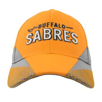 Buffalo Sabres Reebok Yellow Practice Structured Flex Fit Hat (Adult L/XL)