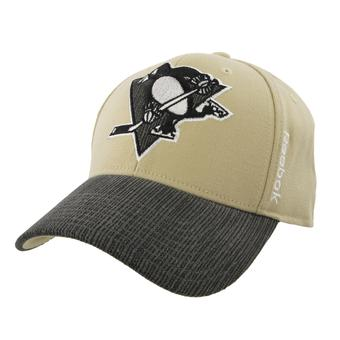 Pittsburgh Penguins Reebok Gold Tavel & Training Structured Flex Fit Hat (Adult L/XL)