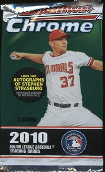 2010 Bowman Chrome Baseball Retail Pack