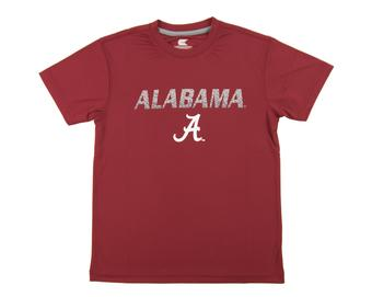 Alabama Crimson Tide Colosseum Crimson Youth Performance Digit Tee Shirt (Youth L)