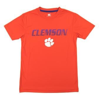 Clemson Tigers Colosseum Orange Youth Performance Digit Tee Shirt (Youth L)