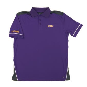 LSU Tigers Colosseum Purple Blade Chiliwear Performance Polo Shirt