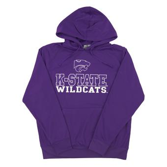 Kansas State Wildcats Colosseum Purple Tie Breaker Performance Hoodie (Adult Small)