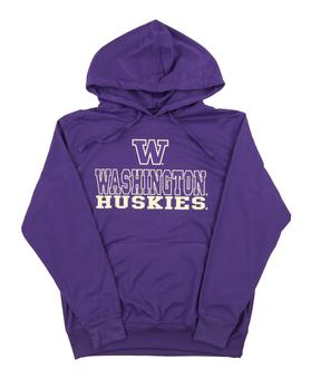 Washington Huskies Colosseum Purple Tie Breaker Performance Hoodie (Adult Medium)