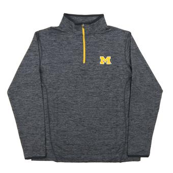 Michigan Wolverines Colosseum Navy Action Pass 1/4 Zip Performance Long Sleeve Shirt