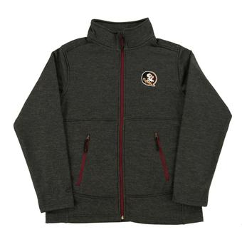 Florida State Seminoles Colosseum Gray Backfield Full Zip Performance Fleece (Adult XL)