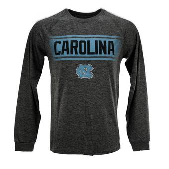 North Carolina Tar Heels Colosseum Grey Slate II Performance Long Sleeve Tee Shirt (Adult S)