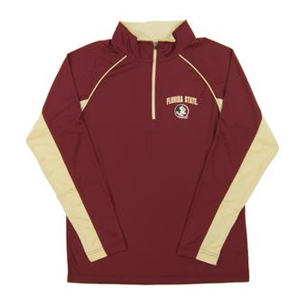 Florida State Seminoles Colosseum Maroon Lineman 1/4 Zip Performance Long Sleeve Shirt (Adult Large)