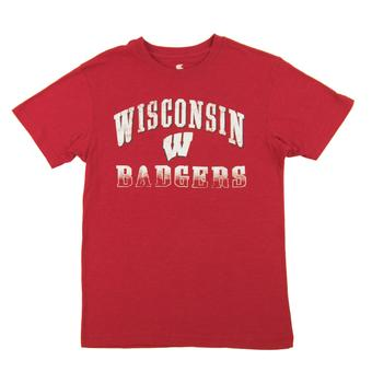 Wisconsin Badgers Colosseum Red Contour Dual Blend Tee Shirt