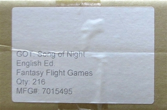Fantasy Flight Games A Game of Thrones A Song of Night Booster 6-Box Case