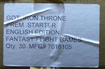 Fantasy Flight Games A Game of Thrones Iron Throne Edition Starter 6-Box Case
