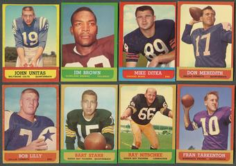 1963 Topps Football Complete Set (EX+)