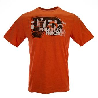 Philadelphia Flyers Reebok Orange Dual Blend Tee Shirt (Womens L)