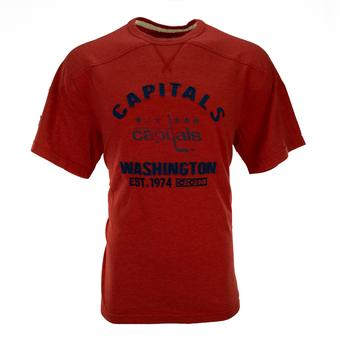 Washington Capitals CCM Reebok Red Applique Tee Shirt (Adult L)