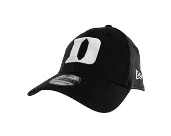 Duke Blue Devils New Era 39Thirty Team Classic Black Flex Fit Hat (Adult M/L)