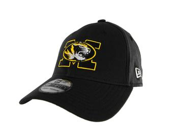 Missouri Tigers New Era 39Thirty Team Classic Black Flex Fit Hat (Adult S/M)