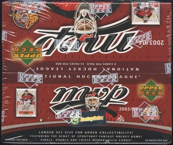 2003/04 Upper Deck MVP Hockey 24-Pack Box