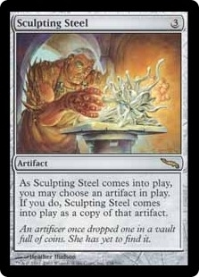 Magic the Gathering Mirrodin Single Sculpting Steel - MODERATE PLAY (MP)