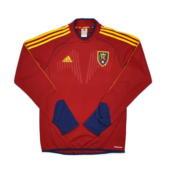 Real Salt Lake Adidas Maroon Climalite Performance Long Sleeve Tee Shirt (Adult S)