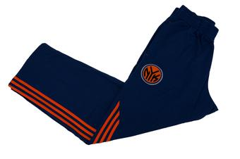 New York Knicks Adidas Blue Pre Game Fleece Sweatpants (Adult L)