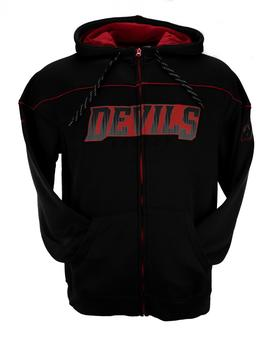 New Jersey Devils Reebok Black Accelerator Full Zip Fleece Hoodie (Adult XXL)