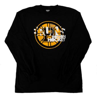 Boston Bruins Reebok Black Long Sleeve Tee Shirt (Adult XL)