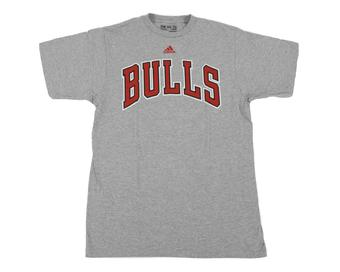 Chicago Bulls Adidas Grey The Go To Tee Shirt (Adult XXL)