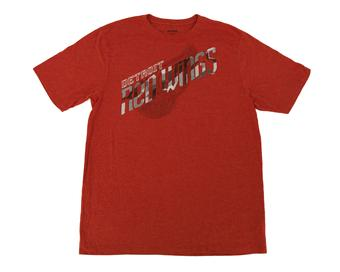 Detroit Red Wings Reebok Heather Red Dual Blend Tee Shirt (Adult L)
