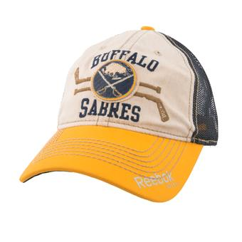Buffalo Sabres Reebok Beige Slouch Snapback Hat (Adult One Size)