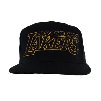 Los Angeles Lakers Adidas Black Authentic Draft Snapback Hat (Adult One Size)