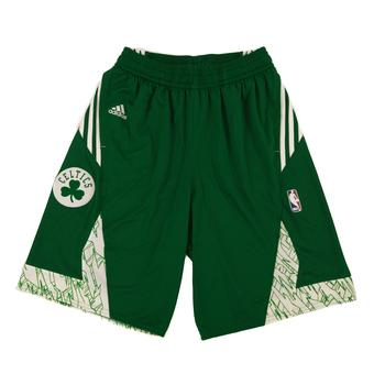 Boston Celtics Adidas Green Pre Game Basketball Shorts (Adult M)