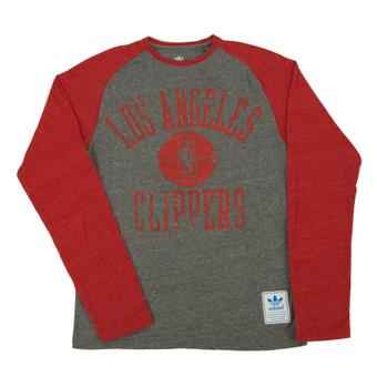 Los Angeles Clippers Adidas Grey Tri Blend Long Sleeve Tee Shirt