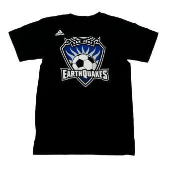 San Jose Earthquakes Adidas Black The Go To Tee Shirt (Adult S)