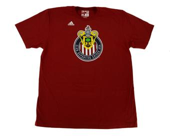 Club Deportivo Chivas USA Adidas Red The Go To Tee Shirt (Adult S)